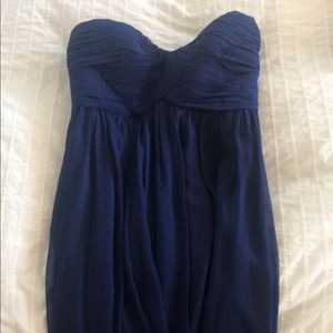Donna Morgan Strapless Navy Dress